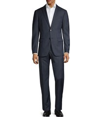 john varvatos star u.s.a. men's standard-fit wool suit - charcoal blue - size 40 r