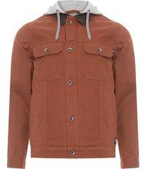 jaqueta masculina precept hooded - marrom