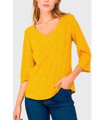 blusa io amarillo - calce ajustado