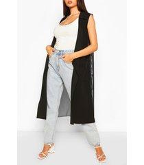 mesh back sleeveless jacket, black