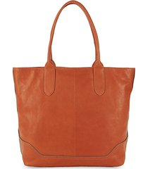 madison leather zip tote