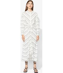 proenza schouler crepe striped long sleeve dress white 6