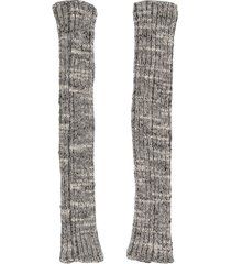 chanel pre-owned fingerless knitted gloves - grey