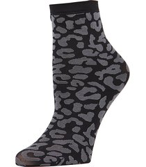 leopard-print low-cut socks