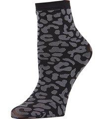 leopard-print low-cut socks