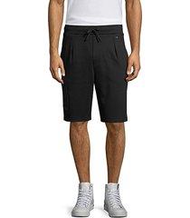 dimes tape cotton sweat shorts