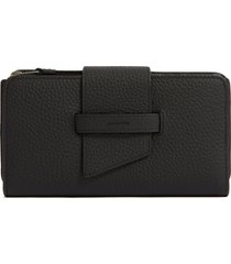 allsaints ray leather wallet in black at nordstrom