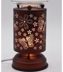 copper butterflies touch lamp oil/tart warmer - use with scentsy wax