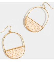 marley beaded oblong drop earrings - white