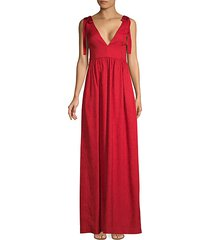 harlow tie-shoulder a-line gown