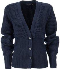 ralph lauren ribbed merino wool cardigan