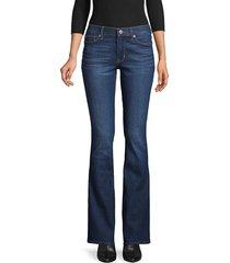 hudson jeans women's mid-rise bootcut jeans - lake blue - size 24 (0)