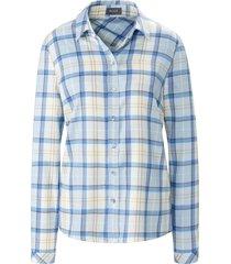 blouse met lange mouwen en ruitdessin van basler multicolour