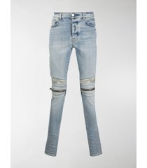 amiri mx2 bandana-detail skinny jeans