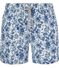 capri code blue and white floral swimsuit