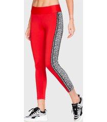 legging ngx long band pitón rojo - calce ajustado