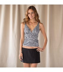 eco striped tank topini