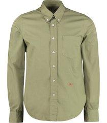 ami alexandre mattiussi button-down collar cotton shirt