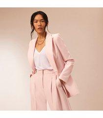 river island womens pink ri studio fitted blazer