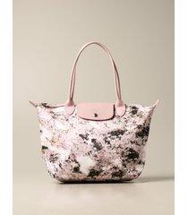 longchamp handbag le pliage bag longchamp tote bag in floral nylon