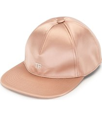 tom ford logo straight brim cap - pink