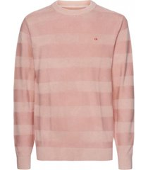 sweater gmd texture stripe c-nk nude calvin klein