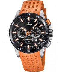 reloj chrono bike naranja festina