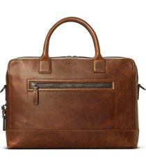 men's shinola bedrock navigator leather briefcase -