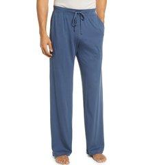 men's daniel buchler peruvian pima lightweight cotton lounge pants, size medium - blue