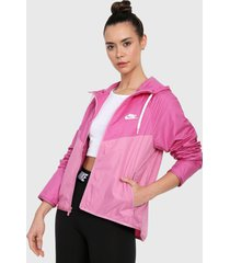 chaqueta rosa-blanco nike windrunner