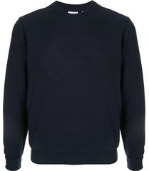 supreme x lacoste pique crew neck sweatshirt - blue