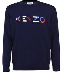 kenzo ribbed logo sweatshirt