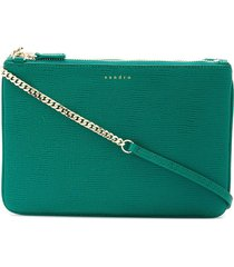 sandro paris addict pouch chain - green