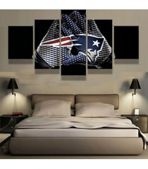 5 pcs new england patriots gloves painting printed canvas wall art home dcor