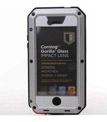 estuche carcasa lunatik taktik extreme para iphone 5c - plateado