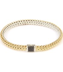 'classic chain' reversible spinel 18k yellow gold silver bracelet