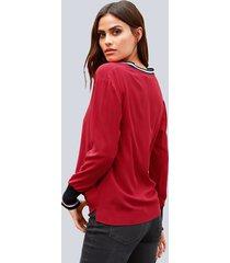 blus alba moda röd::offwhite::marinblå