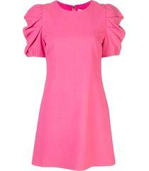 alice+olivia hanita puff sleeve shift dress - pink