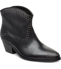 angel studs shoes boots ankle boots ankle boot - heel svart custommade