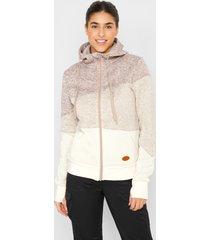 gebreid fleece vest met gerecycled polyester, lange mouw
