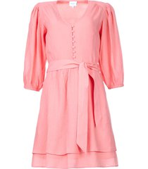 jurk met bijpassende ceintuur bellem  roze