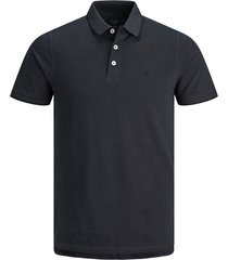 jack & jones paulos heren poloshirt donker pique slim fit