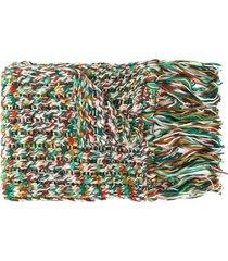 missoni chunky knit tassel scarf - green