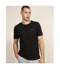 """camiseta masculina tropical paradise"""" manga curta gola careca preto"""""""