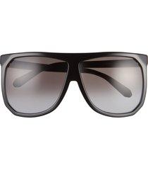 women's loewe 63mm oversize gradient flat top sunglasses -