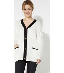 cardigan scollo a v e bottoni