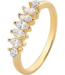anel la madame co cravejado dourado