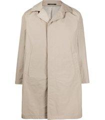 tagliatore button duster coat - neutrals