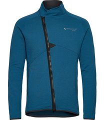 falen zip m's sweat-shirts & hoodies fleeces & midlayers blå klättermusen