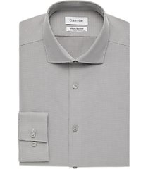 calvin klein gray tic slim fit dress shirt